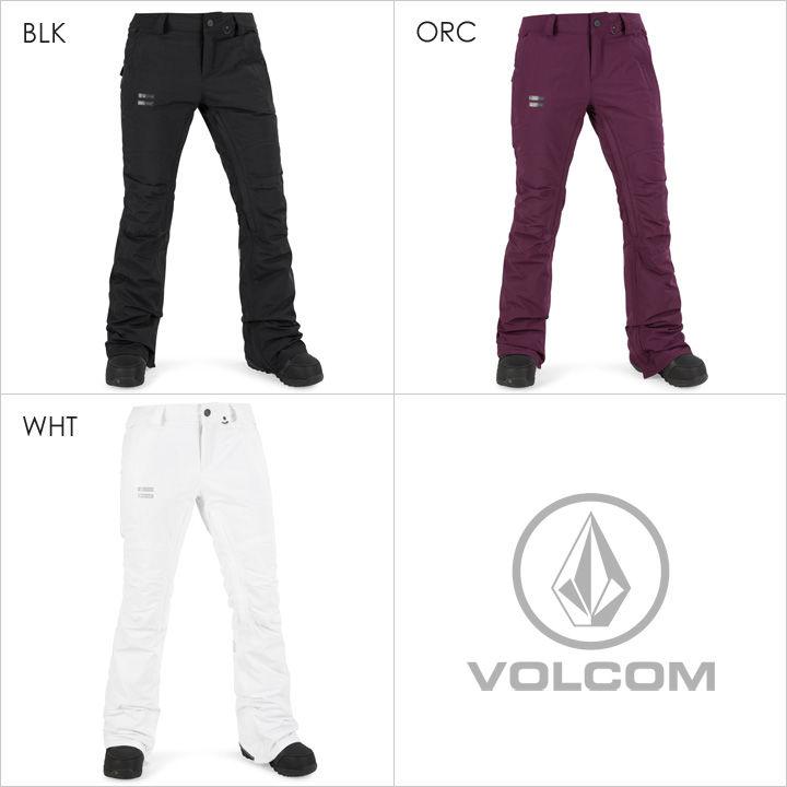 VOLCOM スノーウェア レディース KNOX INS GORE PANT 2017-2018 秋冬 H1251800 ブラック/パープル/ホワイト XS/S/M/L/XL