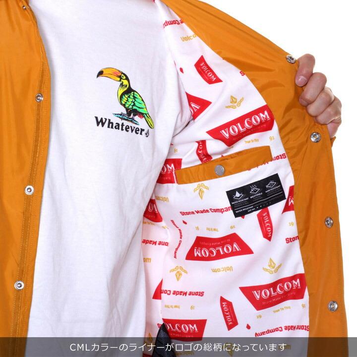 VOLCOM ボルコム ジャケット メンズ BREWS COACH JACKET A1531801 2019春夏 ブラック/マスタード S/M/L