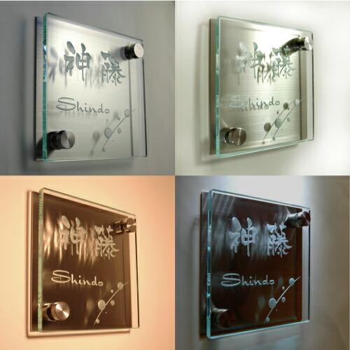 フロートガラス表札商品説明1