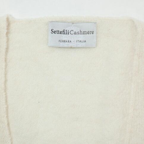 SettefiliCashmereセッテフィーリカシミアジレアルパカホワイト