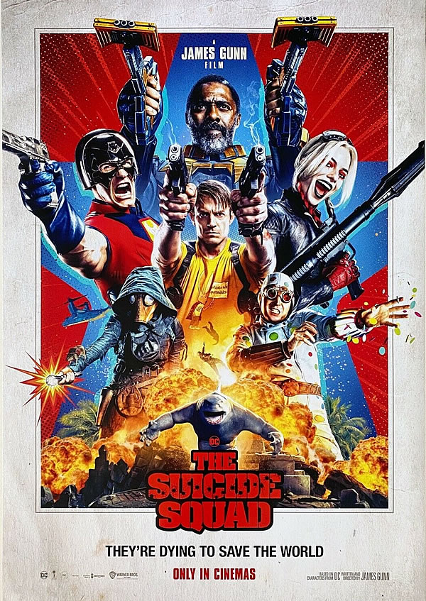 """【映画】「ザ・スーサイド・スクワッド """"極""""悪党、集結 The Suicide Squad(2021)」 – 武装した孤島の独裁国を相手にいつもの悪党が大暴れ"""
