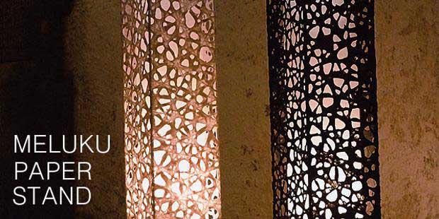 蛍光灯1灯メルック紙フロアライト【S-521】2色 和風行灯照明