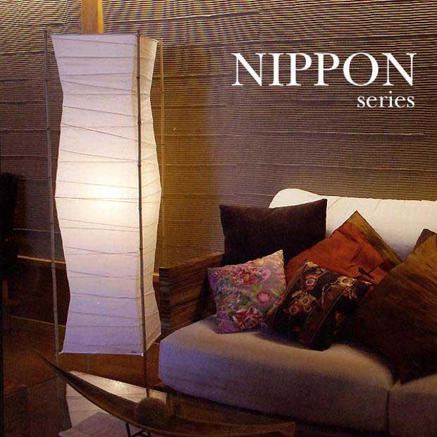 送料無料 蛍光灯1灯春雨紙フロアライト【S-771FG】 和風行灯照明