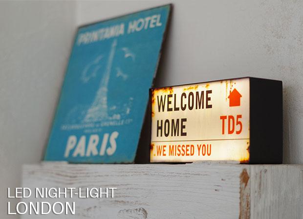 センサー型ナイトライト【LONDON】です。