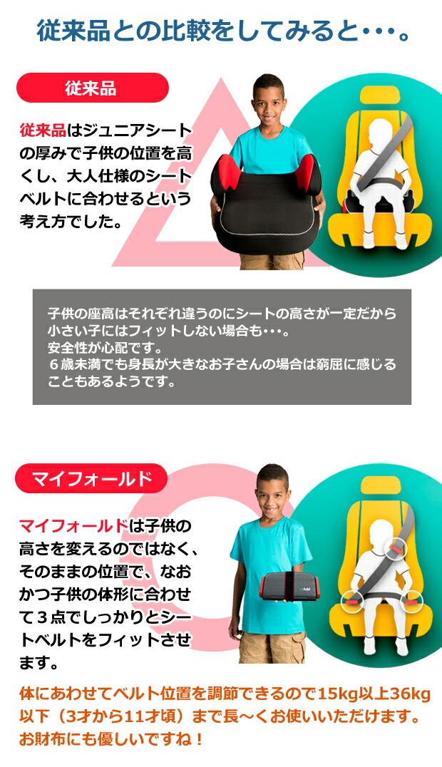 ジュニアシート/ブースターシート/チャイルドシート/車/コンパクト/シートベルト/子供/幼児/運転/マイフォールド/mifold