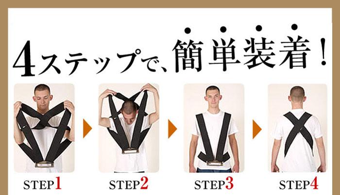 4ステップで装着可能