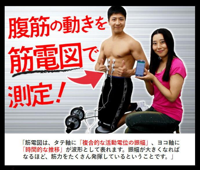 エントリーマッチョでの筋肉の動きを測定!