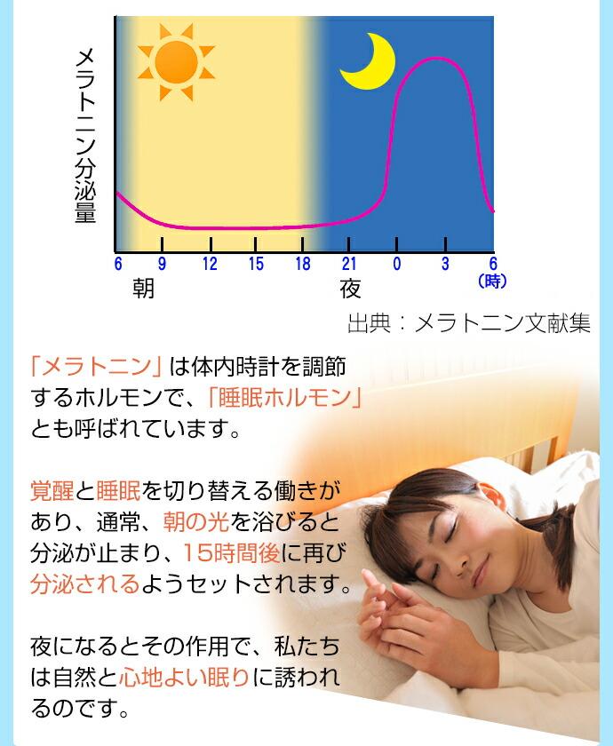 メラトニンの分泌と光の関係