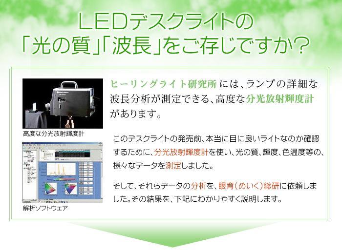 LEDデスクライトの光の質や波長をご存知ですか?