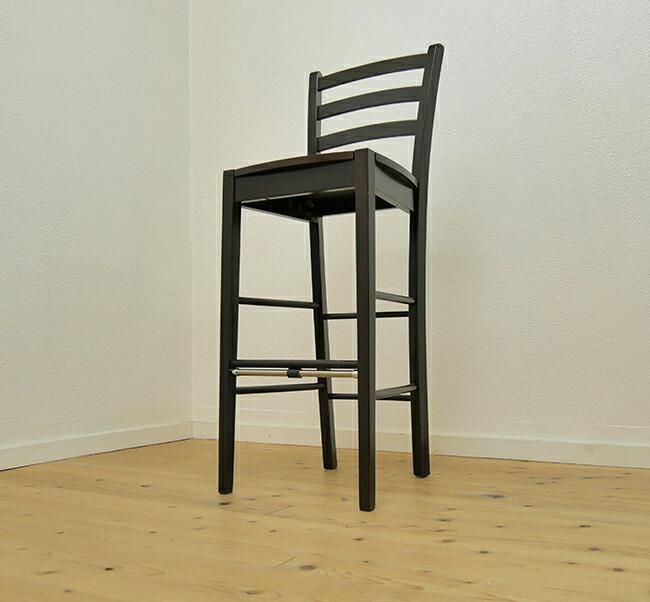 こげ茶色のカウンターチェア 座面高70cm以上の木製カウンター用椅子 飲食店用 楽天 レザー座面カウンターチェア