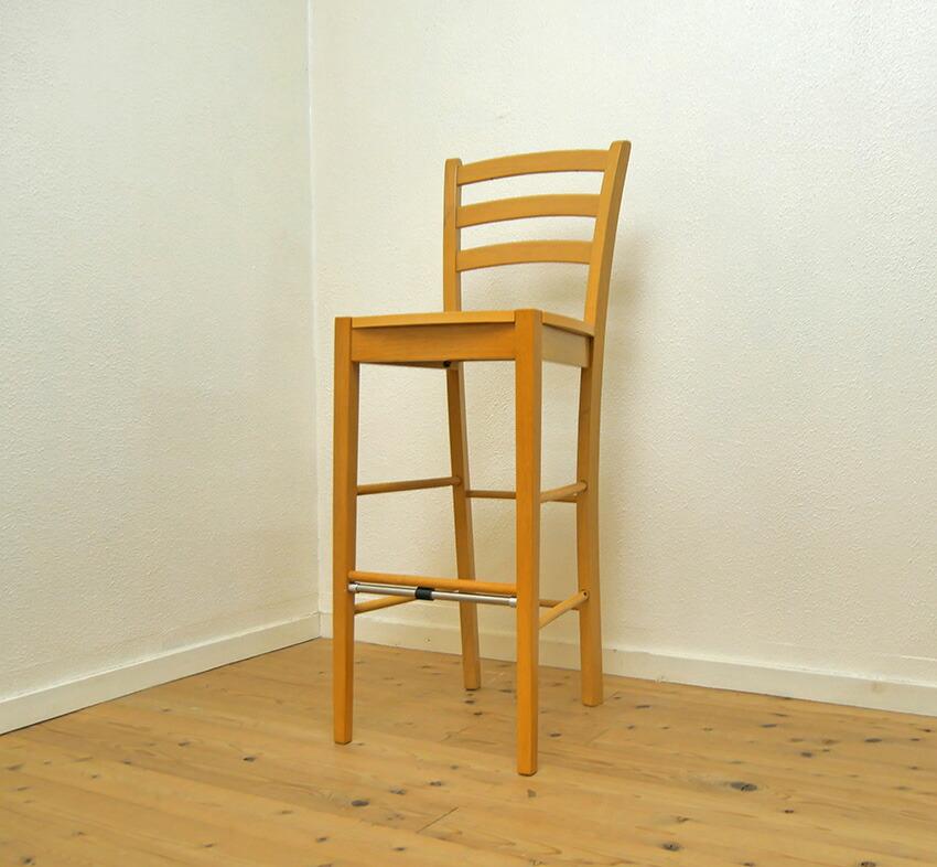 座面高76cm 木製カウンターチェア 業務用レザークッション座面の木製椅子 カウンター高さ100cm以上に合わせるカウンターチェア 楽天