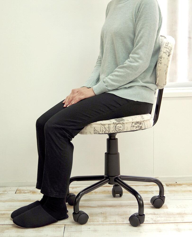 座面高48cm-58cm昇降式レザー張カウンター椅子