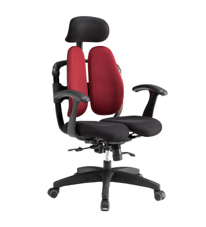 座り心地の良いオフィスチェア デュアル座面で快適 長時間のデスクワーク用チェア