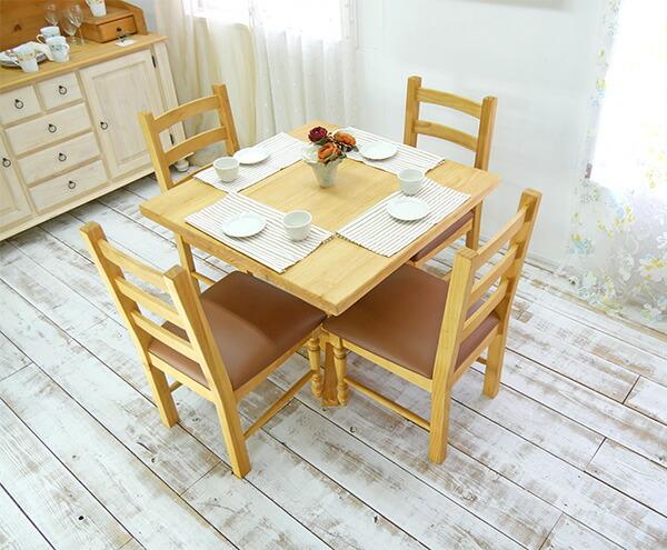 カントリー コンパクト角テーブル