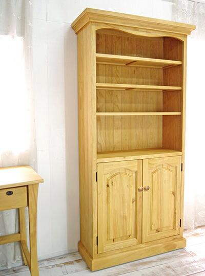 カントリー本棚,木製取手