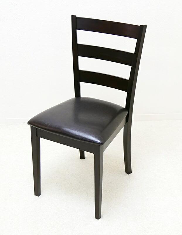 木製椅子 こげ茶色