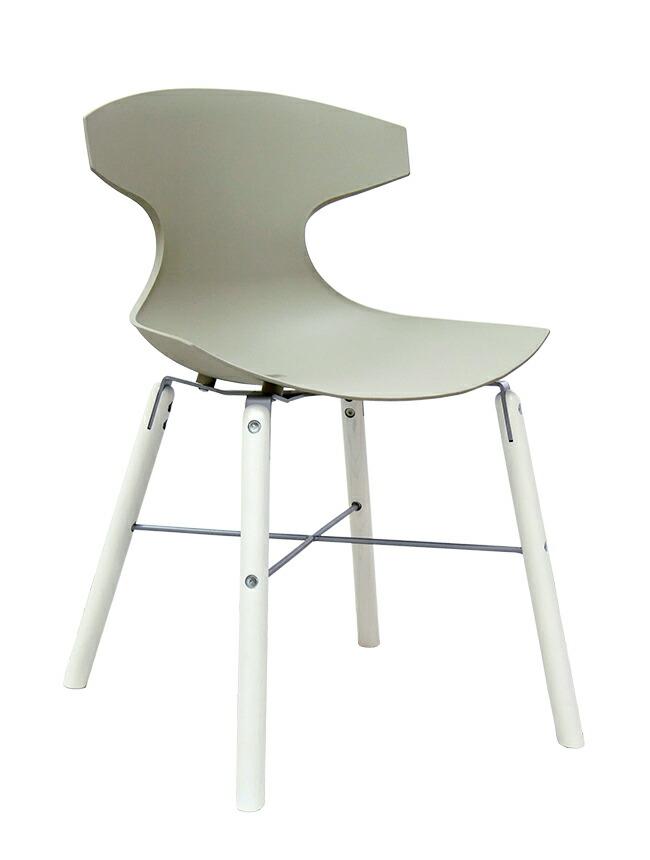 イタリア製デザイナーズチェア オシャレな椅子 グレーの椅子