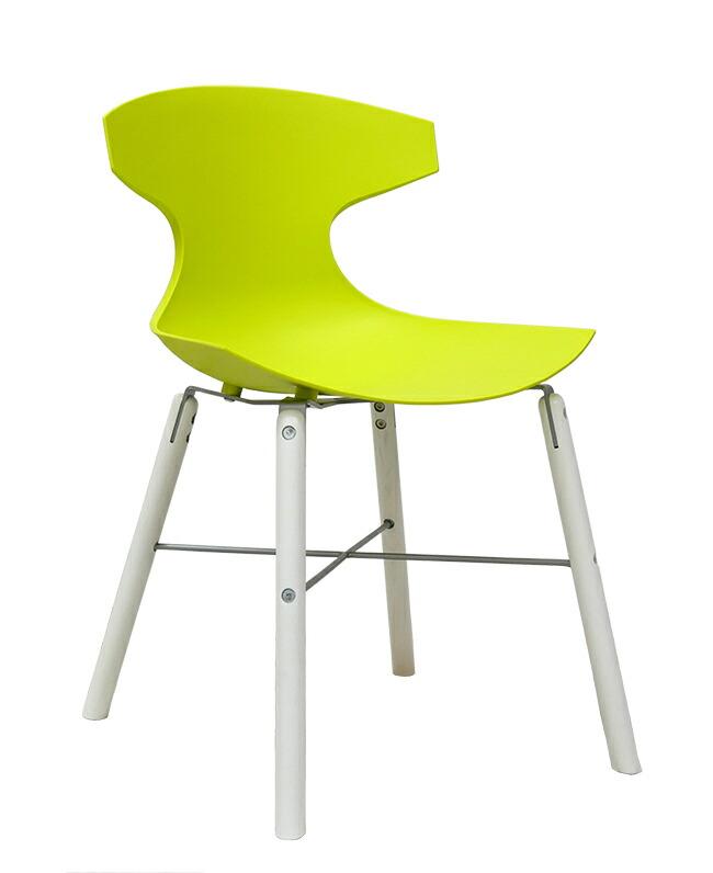 イタリア製デザイナーズチェア オシャレな椅子 グリーンの椅子