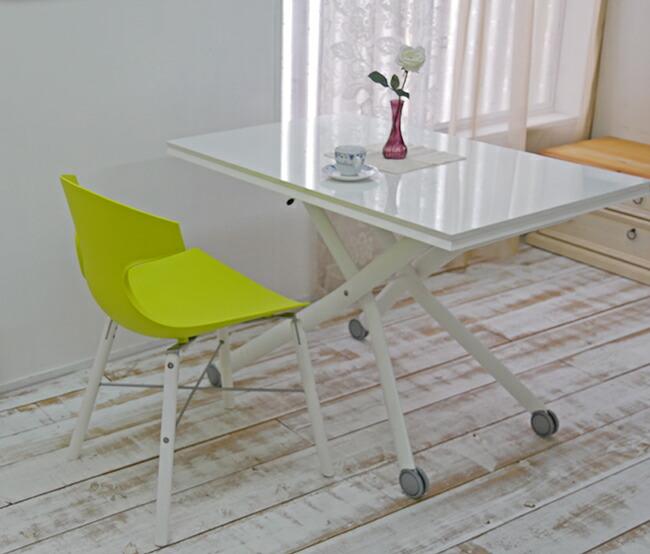 イタリア製の緑色のデザイナーズチェア