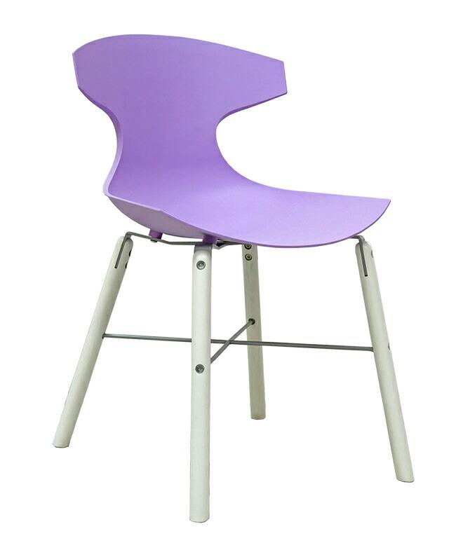 イタリア製デザイナーズチェア オシャレな椅子 パープル