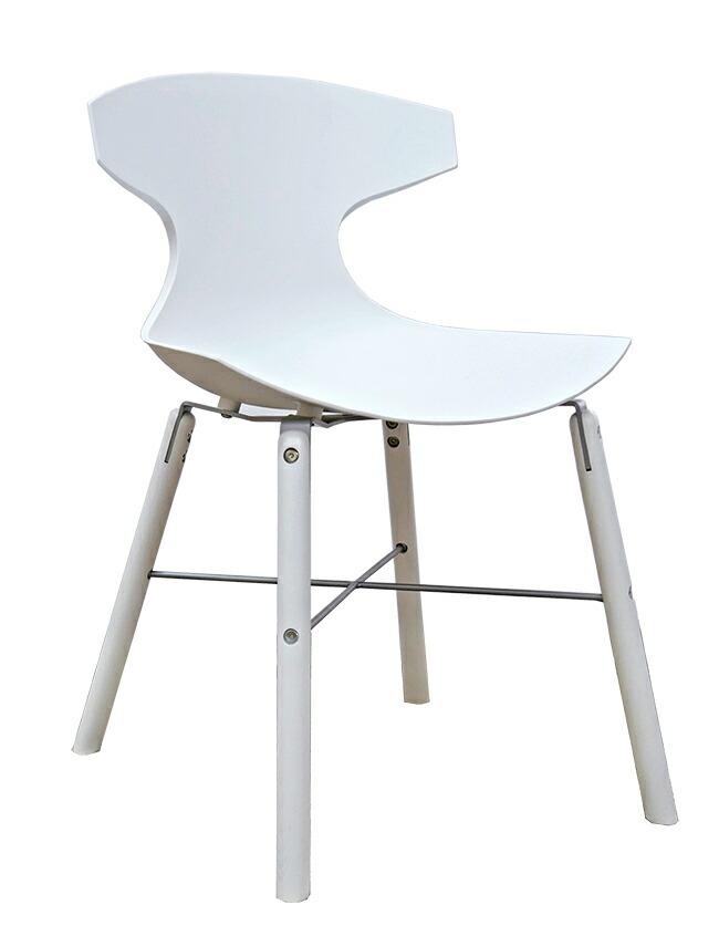 イタリア製デザイナーズチェア オシャレな椅子 白い椅子