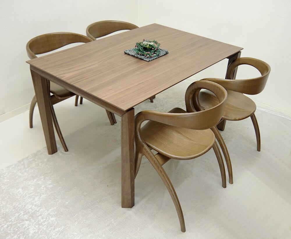 最高級伸長式テーブル 2メートル以上幅のテーブル ウォールナット色