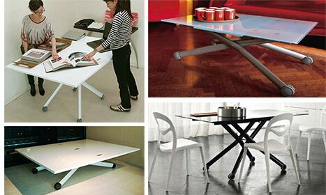 リフティングテーブル伸張式ガラス巾150cm