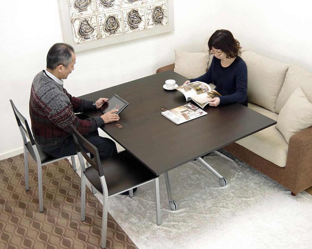 auc-banjo  라쿠텐 일본: 신장 식 리프팅 테이블 Esprit/ウェンジ 색 ...