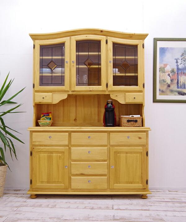 ナチュラルカントリー 食器棚 ノンホルムアルデヒド フォースター基準値より低いホルムアルデヒド排出量 キッチンボード