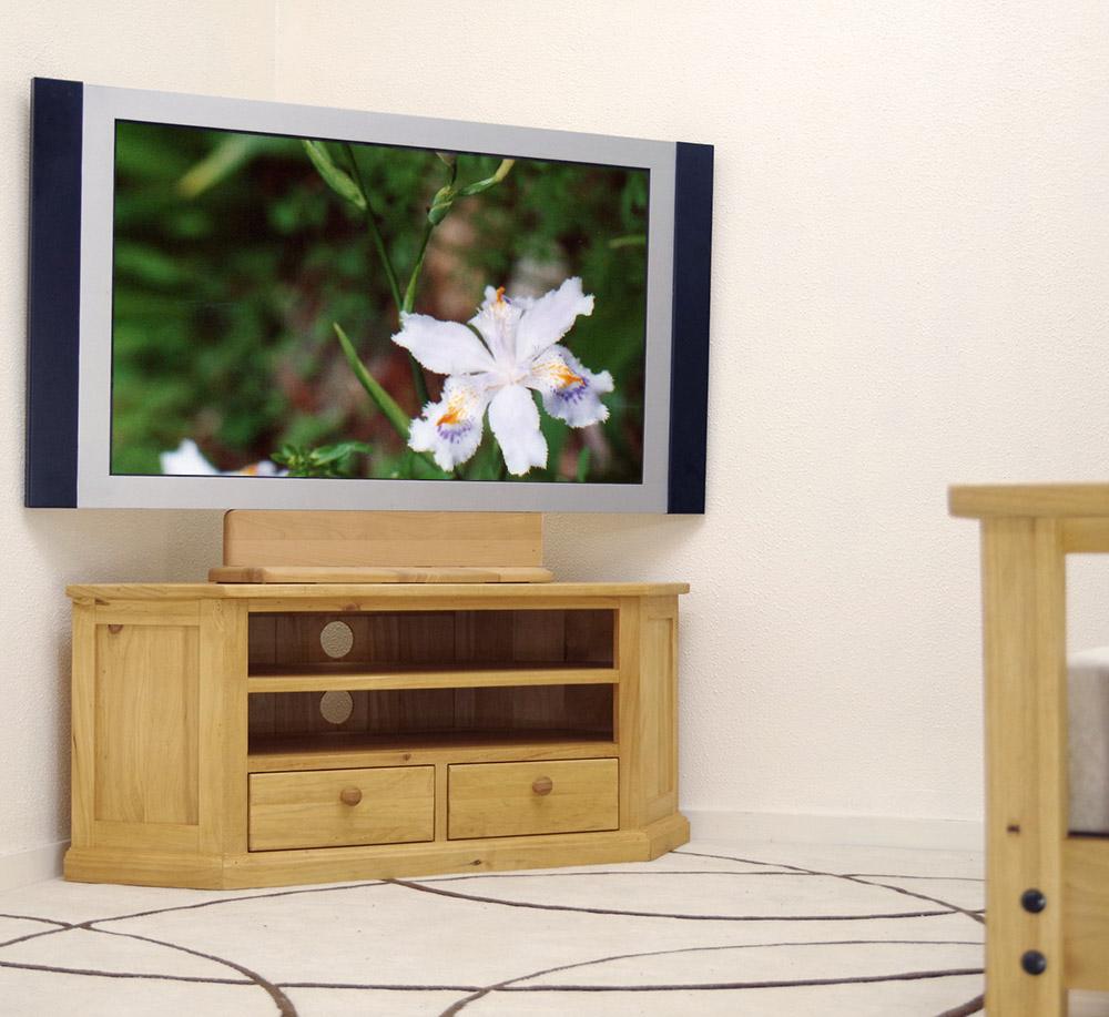 カントリーパイン コーナーテレビボード