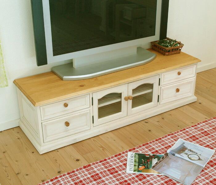 白いテレビボード 木製テレビ台