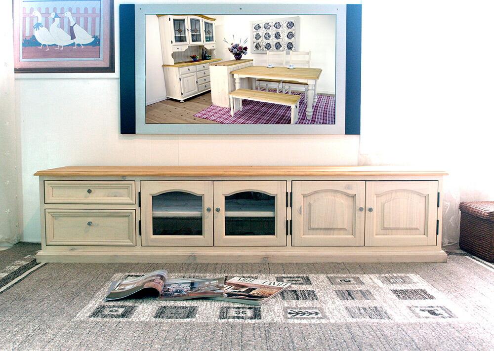 無垢木製 安心安全のテレビボード