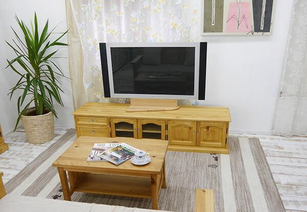 カントリーパインローボード 無垢木製テレビ台