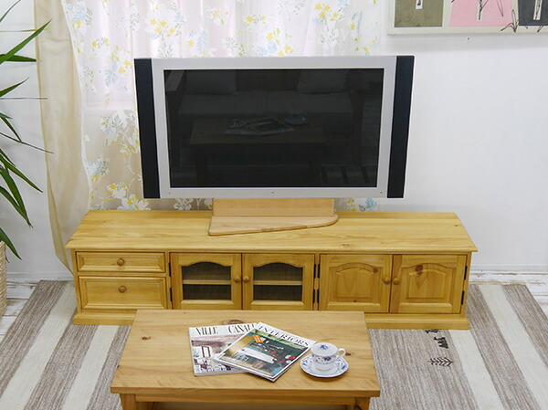 カントリー調 180cm幅 大型テレビボード