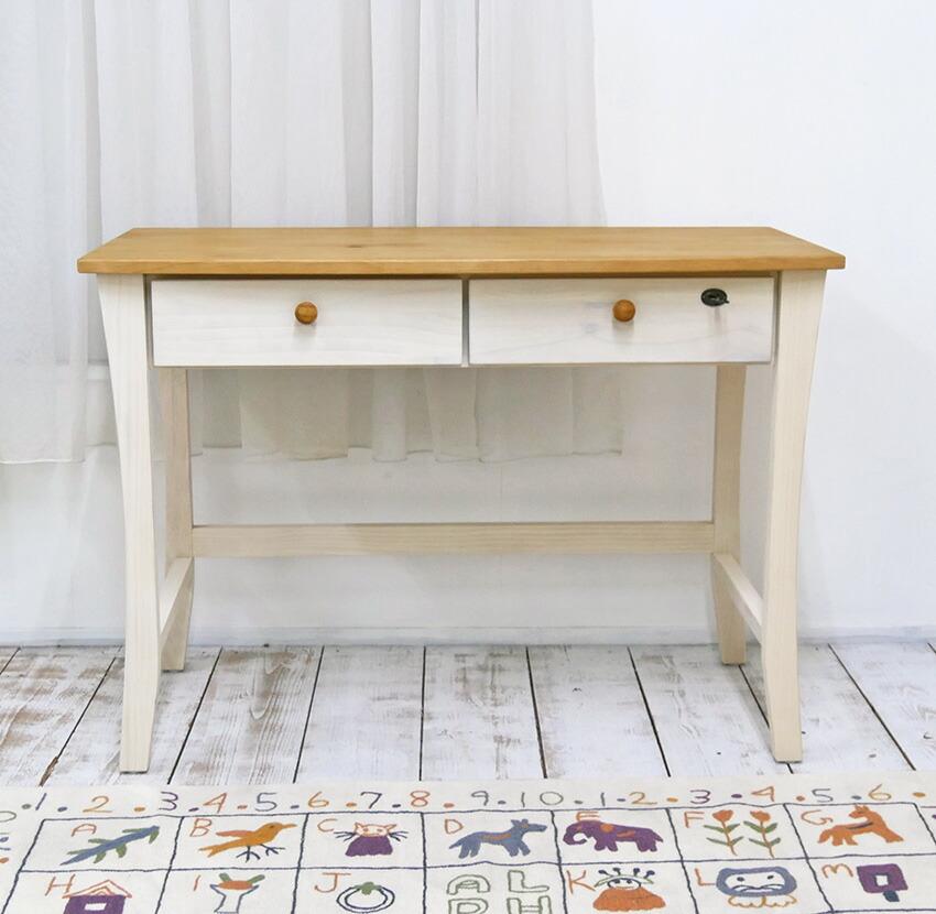 シンプルでかわいい机
