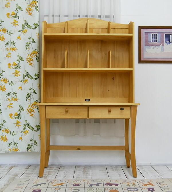 オイル仕上げ 学習デスク 蜜蝋でメンテナンスする家具 カントリー家具学習机