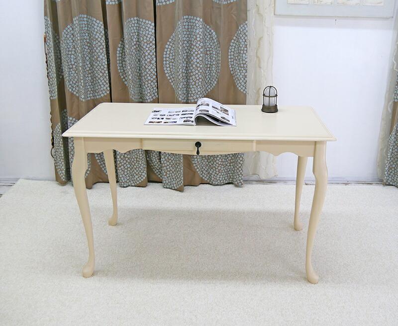 クラシック調 猫脚 幅120cm コンソールテーブル コンパクト