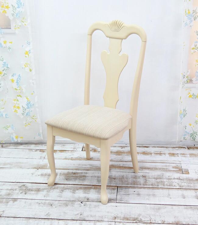 猫脚 ダイニングチェア クラシック調 白い椅子 優美なクイーンアン調 チェア