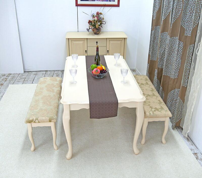 クィーンアンダイニングテーブルセット