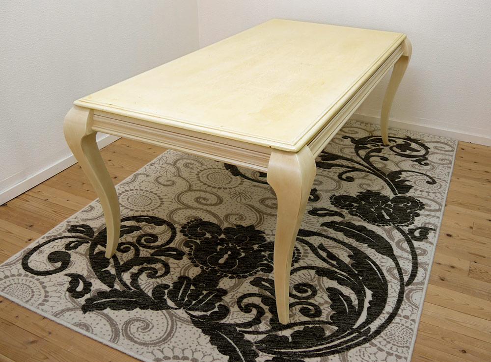 180cm幅の大きなダイニングテーブル 猫脚 クラシック調 猫脚テーブル クイーンアンスタイル ロココ調