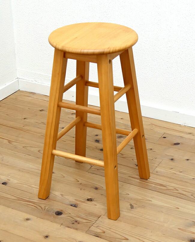 木製スツール 座面60cm椅子