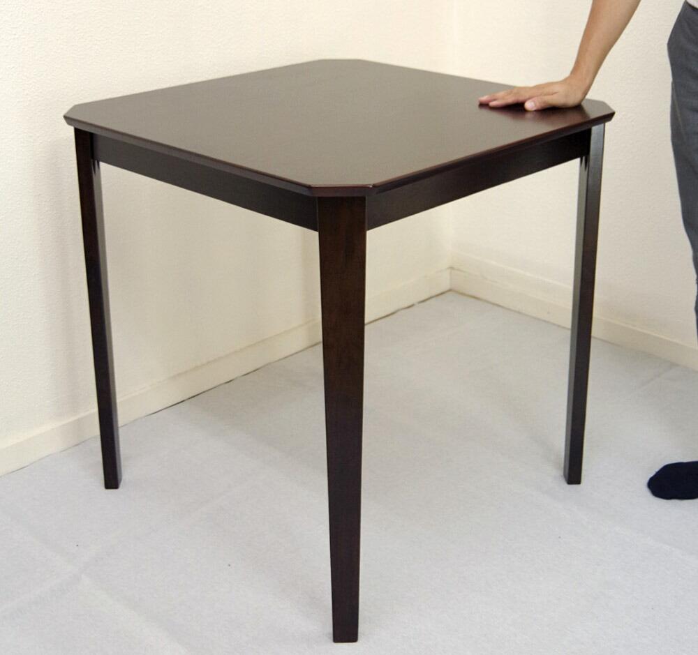 業務用 シンプルテーブル 75cm角テーブル こげ茶色 業務用テーブル 即日出荷可能 大量注文可能