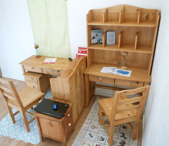 カントリー学習机 ツインデスク 兄弟姉妹用 兄弟机 姉妹机 2人用学習机