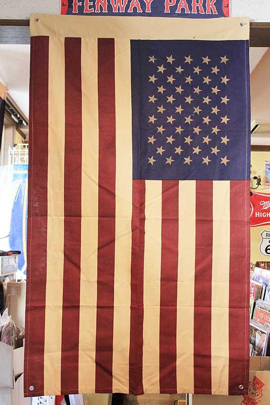 星条旗★フラッグ(旗)・ブラウン★約135×80cm