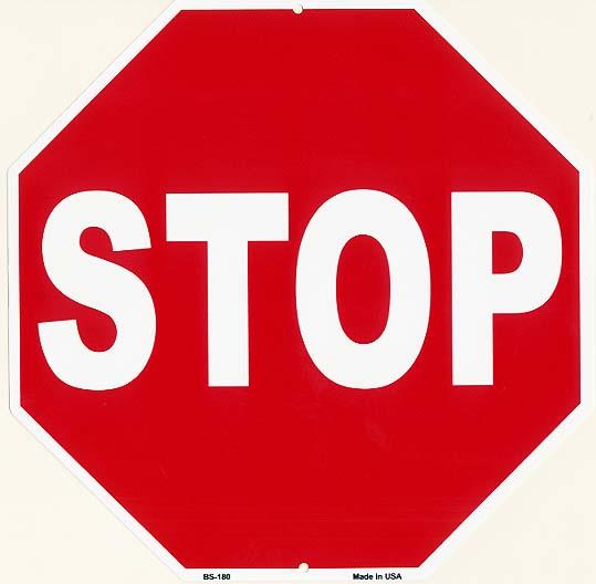 STOP★ストップ・アメリカの道路標識のデザイン★アメリカンブリキ看板