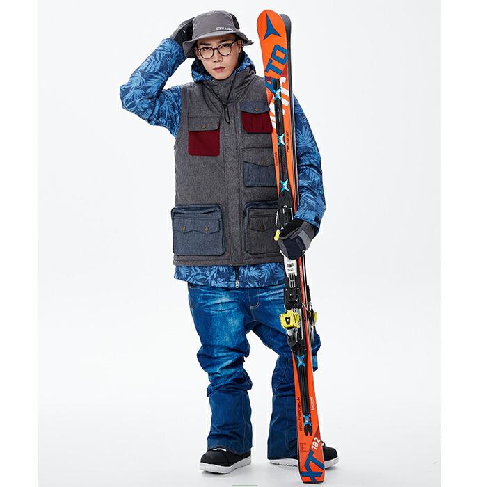 スノーボードウェア メンズ スノボパンツ デニムパンツ KELLAN ケラン EDITH エディス パンツ [デニムプリント] スノボウェア メンズ スノーウェア ジーンズ スノボー スキー XXL 3L 大きいサイズ