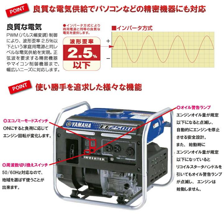 インバーター発電機EF-2500I