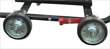 MKW728B サポート式スライドパッド採用移動に便利なタイヤ付き