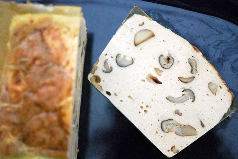 【秋限定】椎茸、マッシュルーム、鶏肉の滑らかな生地のテリーヌ