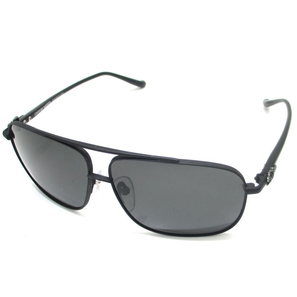 a8f45fbf846f Detalles acerca de Auth Chrome Hearts Black Lens Pork Sword Eyewear  Sunglasses Silver 925 (DH45272)
